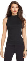 Ralph Lauren Sleeveless Cotton Mockneck Top
