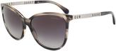 Chanel Translucent Gray Marble Round Sunglasses