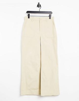 Dr. Denim Tuva wide leg trousers in desert beige
