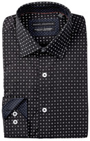 Report Collection Floral Dot Slim Fit Stretch Dress Shirt