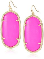 Kendra Scott Signature Danielle Earrings in Gold Plated and Magenta Color Magnesite