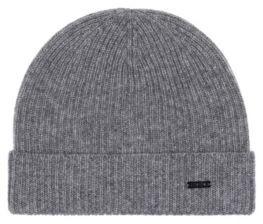 HUGO BOSS Fisherman's rib beanie hat in pure cashmere