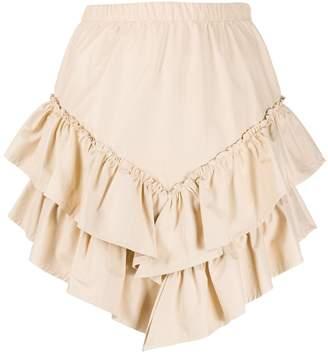 Soallure SO ALLURE asymmetric tiered short skirt