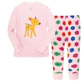 "Kidsmall ""Deer"" Little Grls Long Sleeve Pajama Set Cotton sleepwear"