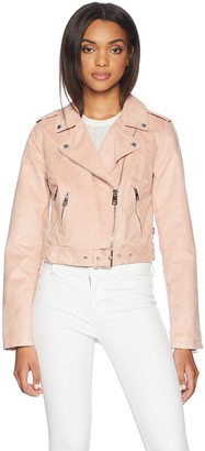 Levi's Ladies Outerwear Women's Faux Suede Asymmetrical Belted Motorcycle Jackets