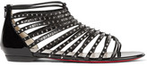 Christian Louboutin Millaclou Spiked Patent-leather Sandals - Black