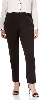 Rafaella Women's Plus-Size Ponte Comfort Fit Slim Leg Pants