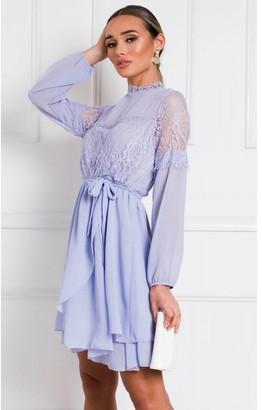 IKRUSH Lanah Lace Shift Dress in Lilac