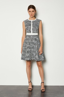Karen Millen Panelled Jacquard Pop On Dress