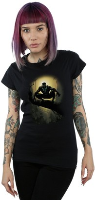 Absolute Cult Marvel Women's Black Panther Crouching T-Shirt Black Small