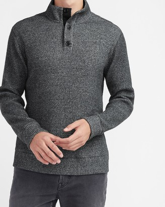 Express X You Waffle Knit Mock Neck Long Sleeve T-Shirt