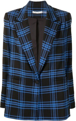 Alice + Olivia Plaid Check Blazer