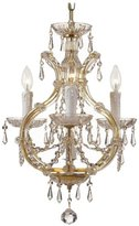 Novella Collection 2501-OB-GT-MWP Ornate Cast Brass Wall Sconce Accented with Golden Teak Wood Polished Crystal