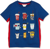 Little Marc Jacobs Cotton Jersey Animation Tee, Blue/Red, Size 4-5