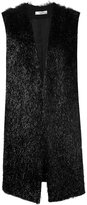 Lanvin faux fur waistcoat - women - Polyamide/Polyester/Acetate/Wool - 38