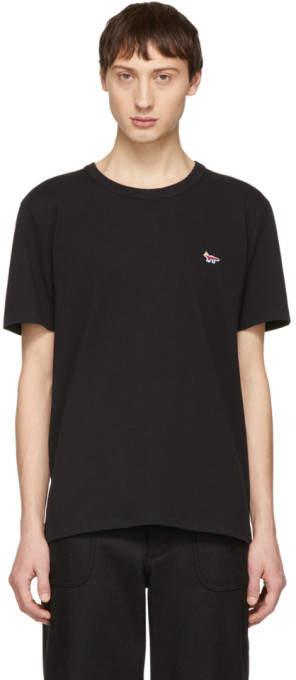 MAISON KITSUNÉ SSENSE Exclusive Black Rainbow Fox Patch T-Shirt