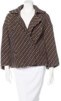 Dries Van Noten Abstract Pattern Wool Coat