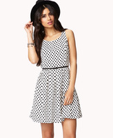 Forever 21 Polka Dot Dress w/Sash