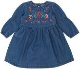Benetton Baby Girls Embroidered Denim Dress
