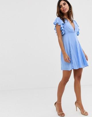 Asos Design DESIGN mini dress with lace godet panels