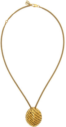 Balenciaga Gold Precious Logo Necklace