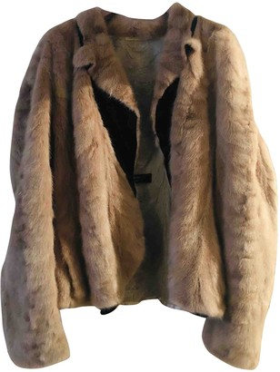 Lanvin Beige Mink Coat for Women Vintage