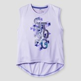 Champion Girls' Graphic Muscle Tank Lilac