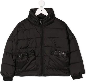 Karl Lagerfeld Paris Debossed Logo Padded Jacket