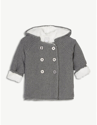 The Little Tailor Plush-lined double-breasted cotton coat 0-12 months