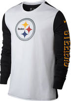 Nike Men's Pittsburgh Steelers NFL Championship Drive 2.0 Long-Sleeve T-Shirt