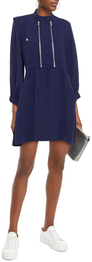 Thumbnail for your product : BA&SH Zip-detailed Cady Mini Dress