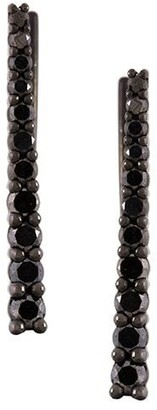 Alinka black rhodium 18kt white gold VERA diamond cuff earrings