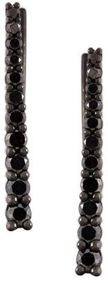 Alinka black rhodium 18kt white gold VERA diamond cuff earrings