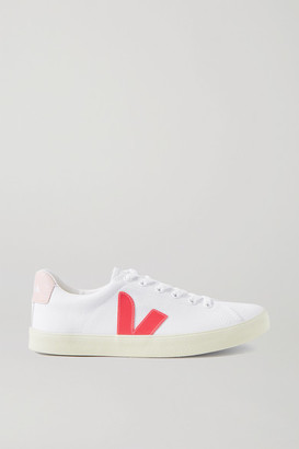 Veja Esplar Rubber-trimmed Organic Cotton-canvas Sneakers - White