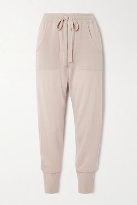Eres Futile Wool And Cashmere-blend Track Pants - Taupe