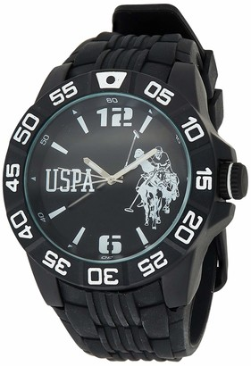 U.S. Polo Assn. Sport Men's USP9031 Analog Display Analog Quartz Black Watch