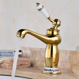 AWXJX Sink faucet AWXJX European style retro style copper hot and cold washing the face Single Hole Sink mixer