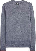 Ps By Paul Smith Navy Mélange Cotton Jumper