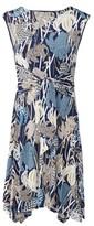 Dorothy Perkins Womens Izabel London Blue Floral Print Skater Dress, Blue