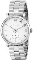 Marc by Marc Jacobs Women's MBM3242 Baker Silver-Tone Stainless Steel Watch with Link Bracelet