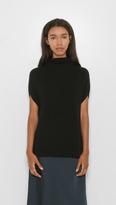 Vince Sleeveless Turtleneck w/ Side Panels
