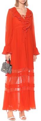 Self-Portrait Ruffled chiffon maxi dress