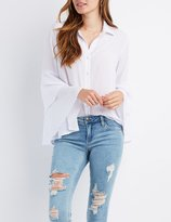 Charlotte Russe Bell Sleeve Button-Up Shirt