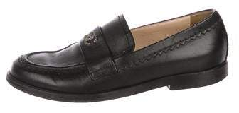 Chanel CC Leather Loafers