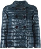 Herno double-breasted three-quarters jacket - women - Feather Down/Polyamide - 40