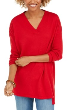 Style&Co. Style & Co V-Neck Tunic Sweater, Created for Macy's