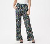 Brooke Shields Timeless BROOKE SHIELDS Timeless Petite Flat Front Printed Wide-Leg Pants