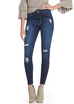 YMI Jeanswear WannaBettaButt Destructed High-Rise Skinny Jeans