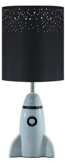Signature Design by Ashley Cale Rocket Ship Ceramic Kids' Table Lamp