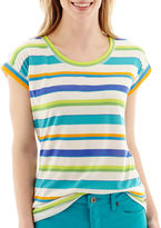 JCPenney STYLUS Stylus Short-Sleeve Striped T-Shirt